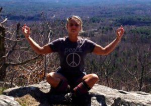 meditating on the mountain top